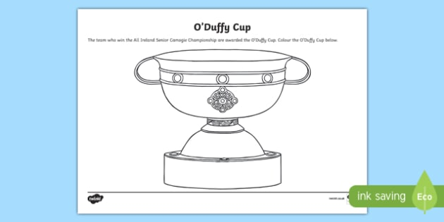 O' Duffy Cup Colouring Worksheet / Activity Sheet-Irish, worksheet