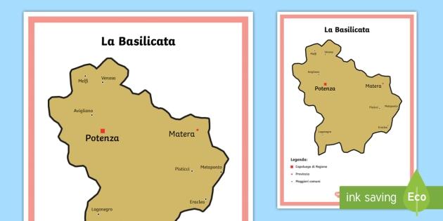 Cartina It.Scuola Primaria La Basilicata Cartina Politica