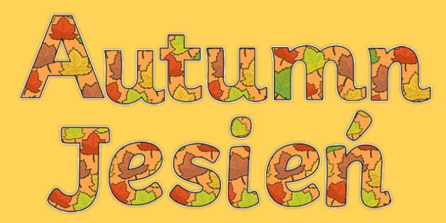 Autumn Display Lettering Polish Translation-Polish-translation