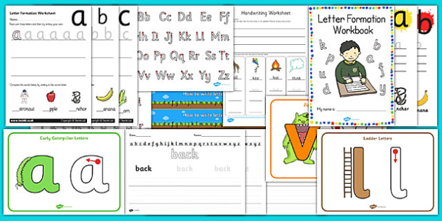 Handwriting and Letter Formation Resource Pack - handwriting, letter formation, resource pack, handwriting resources, letter formation resources, resources