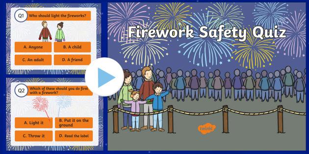 Firework Safety Quiz PowerPoint