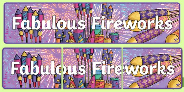 Fabulous Fireworks Display Banner - fireworks, bonfire, new year
