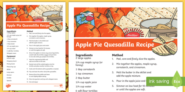 Fall Apple Pie Quesadilla Recipe