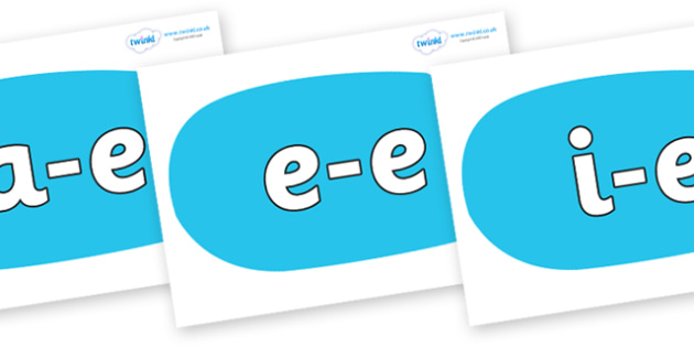 Modifying E Letters on Speech Bubbles (Plain) - Modifying E, letters, modify, Phase 5, Phase five, alternative spellings for phonemes, DfES letters and Sounds