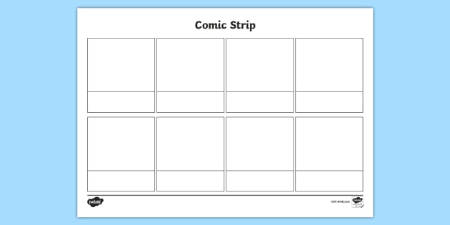 empty comic strip template  FREE! - Blank Comic Strips Template (teacher made)