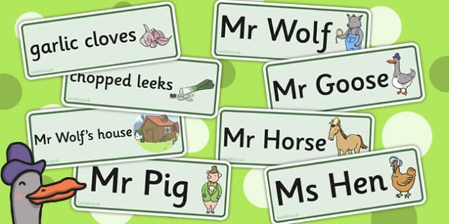 Word Cards to Support Teaching on What's The Time, Mr Wolf? - word cards, card, time, wolf