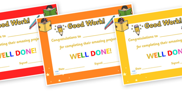 Congratulations For Completing Your Project Certificate
