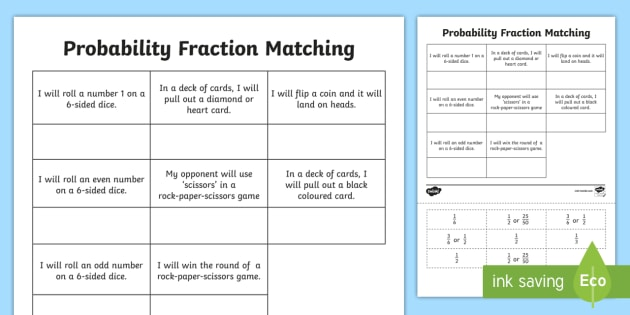 Probability Fraction Matching Cut and Paste Activity