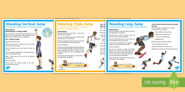 The Standing Long Jump Triple Jump And Vertical Jump Step