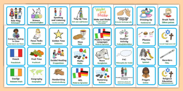 Visual Timetable for KS1 German Translation - german, Visual Timetable, SEN, Daily Timetable, School Day, Daily Activities, Daily Routine KS1, Foundation Stage