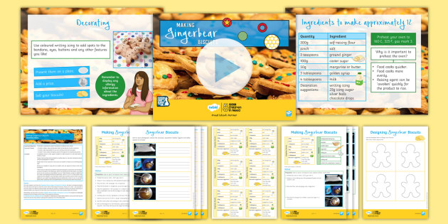 BBC Children in Need: Design Technology Gingerbear Biscuits Lesson Pack