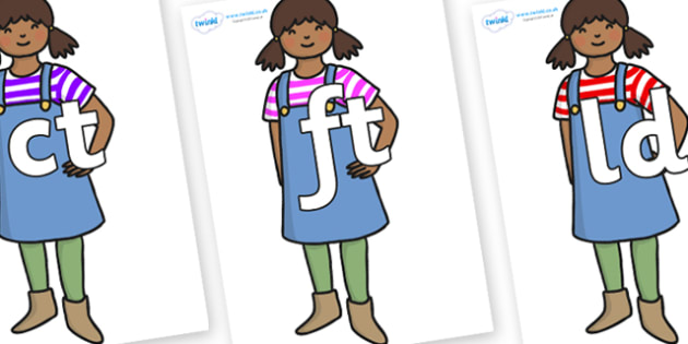 Final Letter Blends on Enormous Turnip Girl - Final Letters, final letter, letter blend, letter blends, consonant, consonants, digraph, trigraph, literacy, alphabet, letters, foundation stage literacy