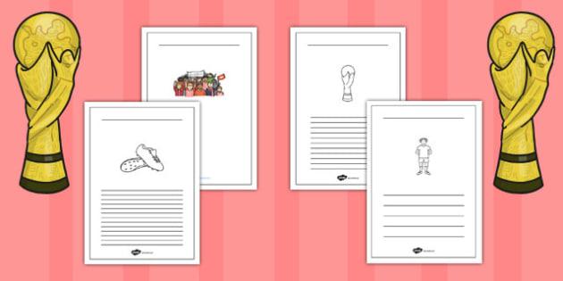 Womens Football World Cup 2015 Writing Frames - writing frames