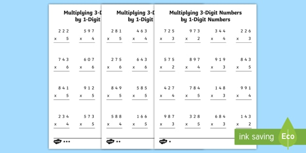 multiplying  and digit numbers by digit numbers differentiated multiplying  and digit numbers by digit numbers differentiated  worksheet