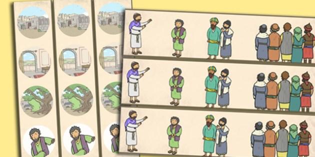 Zacchaeus the Tax Collector Bible Story Display Borders - border
