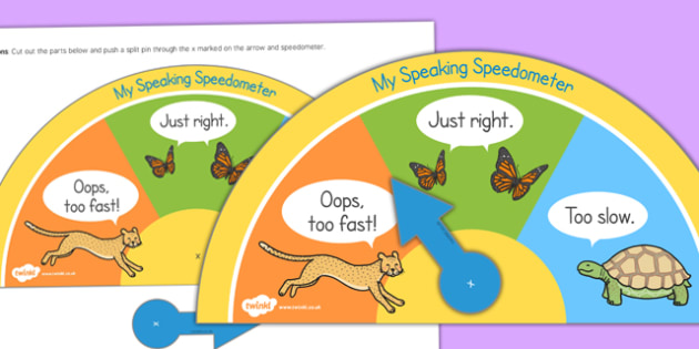 Slow Speaking Speedometer - slow speaking, speedometer, slow, speaking
