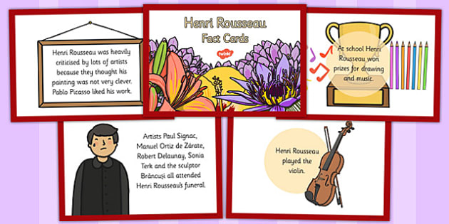 Henri Rousseau Fact Cards - henri, rousseau, fact, cards, artist