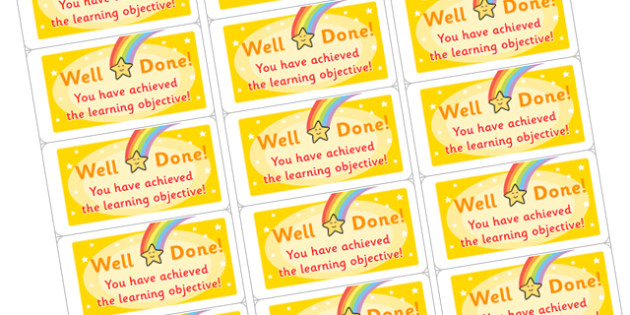 Time Saving Stickers for Marking Learning Objectives - marking, time saving, stickers, time saving stickers, stickers for marking, learning objectives, learning, objectives, please remember your learning objective, time saving stickers for marking,
