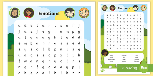 NEW * Emotions Word Search How do I teach the key