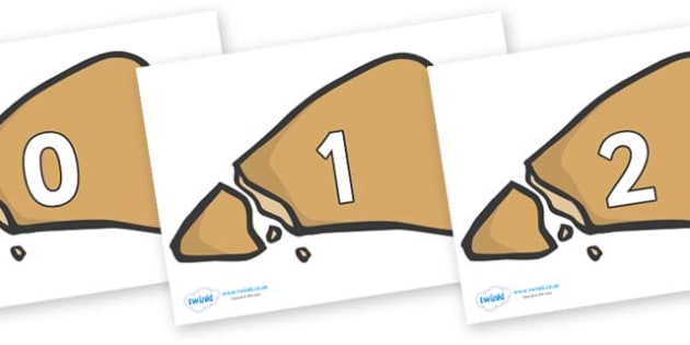 Numbers 0-31 on Egyptian Flatbread - 0-31, foundation stage numeracy, Number recognition, Number flashcards, counting, number frieze, Display numbers, number posters
