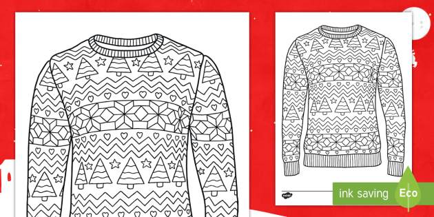 Christmas Jumper Day 2019 Uk.Free Christmas Jumper Mindfulness Colouring Pages