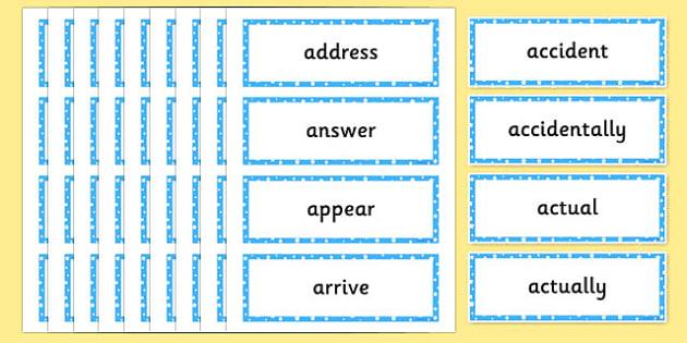 2014 Curriculum Spelling List Years 3 and 4 - spellings, literacy, new curriculum spelling year 5&6