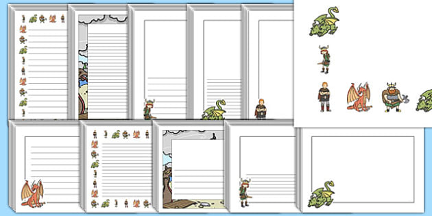 How to Train Your Dragon Page Borders - dragons, border, pages