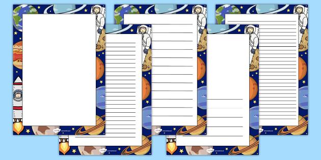Space Decorative Page Border - space, page border, decorative