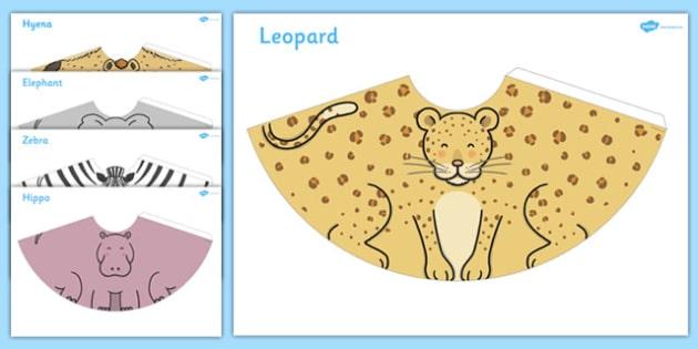 Safari Animal Cone Characters - safari, animal, cone, characters