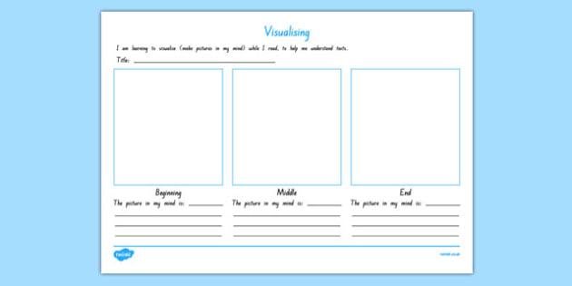 Visualising Activity Sheet, worksheet