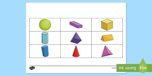 3D Shape Barrier Game - Barrier Games, EAL, speaking, listening, talking, describe, shape, 3D, solid, properties