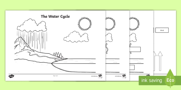 blank water cycle diagram science resource twinkl Interactive Water Cycle Diagram USGS