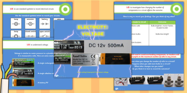 Electricity Voltage Teaching PowerPoint
