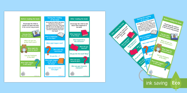 EYFS Reading Prompt Bookmarks - EYFS, Early Years, Reading Prompts Bookmarks, reading, Literacy, books, parents, stories.