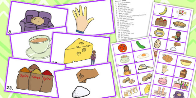 Food Idiom Picture Cards - Food, Idiom, Picture, Cards, Eat