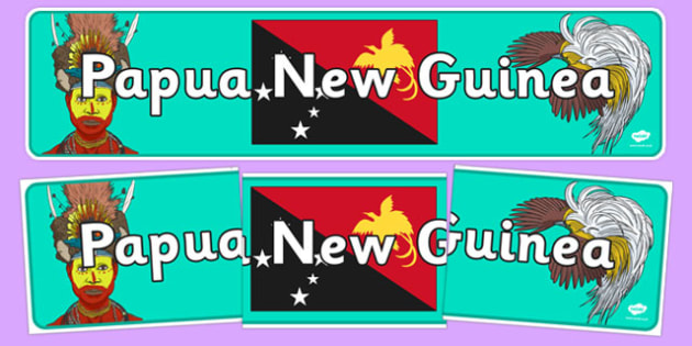 Papua New Guinea Display Banner - Papua New Guinea, Olympics, Olympic Games, sports, Olympic, London, 2012, display, banner, sign, poster, activity, Olympic torch, flag, countries, medal, Olympic Rings, mascots, flame, compete, events, tennis, athlet