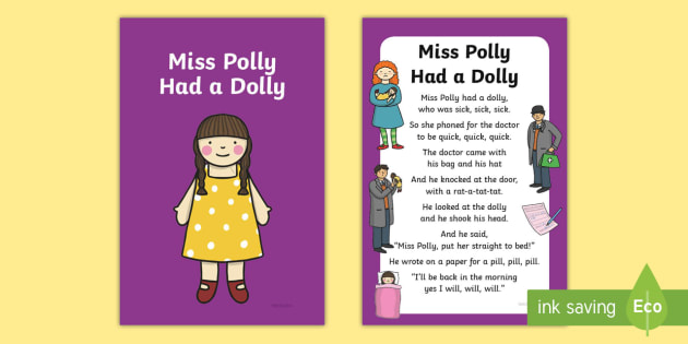 Dolly Nursery Rhyme IKEA Tolsby Frame - Miss Polly