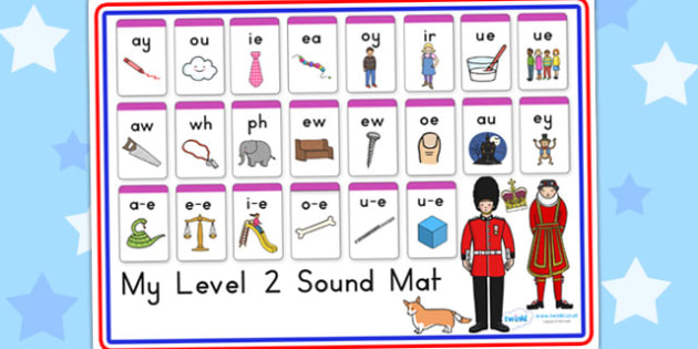 Royal Family Level Two Sound Mat - queen elizabeth, visual aid