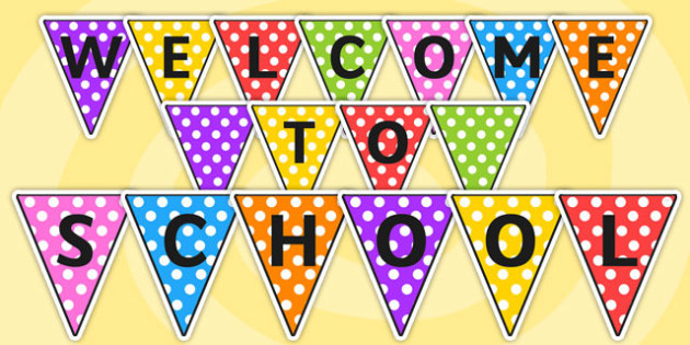 Welcome to School Bunting - bunting, welcome to school, welcome bunting, school bunting, welcome, school, display bunting, display, bunting for display
