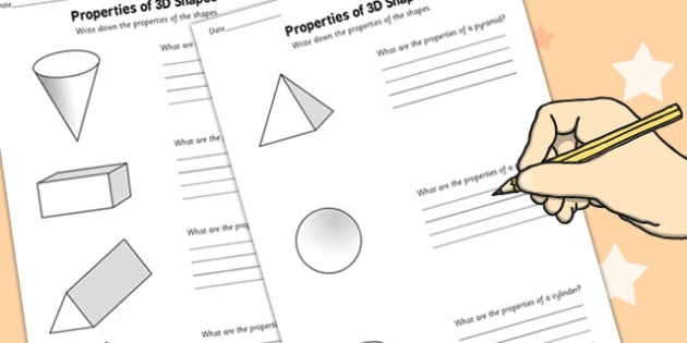 Year 2 Properties Of 3d Shapes Worksheet Activity Sheet Pack