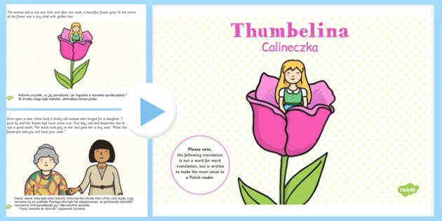 Thumbelina PowerPoint Polish Translation - polish, thumbelina, traditional tale, powerpoint