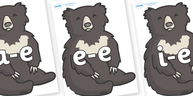 Modifying E Letters on Bears - Modifying E, letters, modify, Phase 5, Phase five, alternative spellings for phonemes, DfES letters and Sounds
