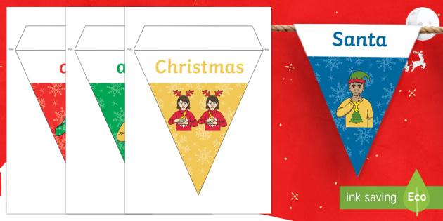 BSL Christmas Display Bunting