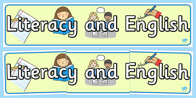 Literacy and English Curriculum For Excellence Display Banner