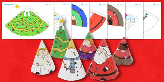 Christmas cone people christmas cone people crafts art for Christmas classic art craft festival