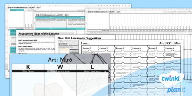 Art: Miro KS1 Unit Assessment Pack