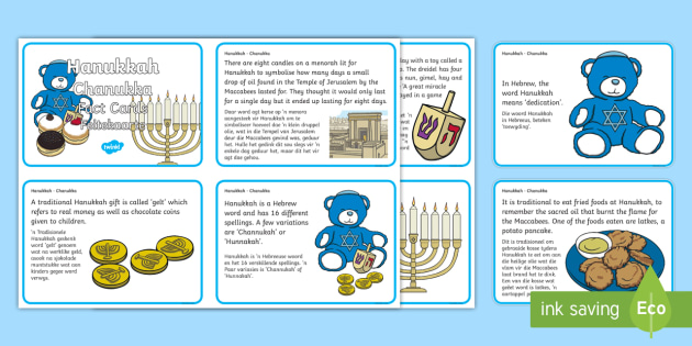 za T T Hanukkah Display Fact Cards English Afrikaans ver 1
