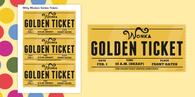 graphic regarding Printable Golden Tickets identify Absolutely free! - Job Enjoy Golden Tickets in direction of Aid Education upon