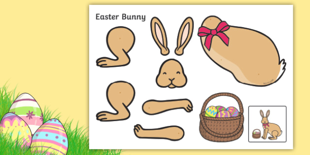 Easter Bunny Split Pin Activity Easter 16th April Bunny Rabbit