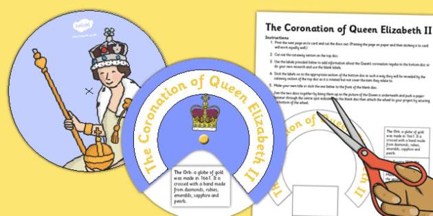 The Coronation of Queen Elizabeth II Paper Wheel - queen elizabeth ii